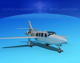 Piper Aerostar FJ-100 Bare Metal 3D