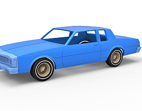 3D print model Diecast shell and wheels Old school car 3