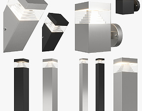 377 Raggio Lightstar Collection LED street lamp 3D model