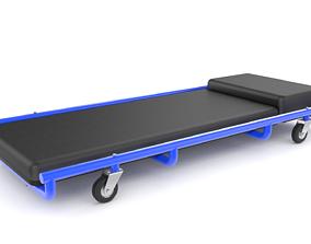 Rolling bed for car service 3D model