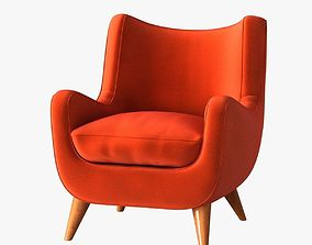 Jean Royere armchair with ears 3D