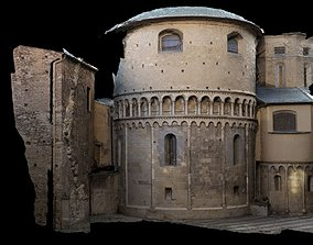 3D model Realistic Medieval Old building house