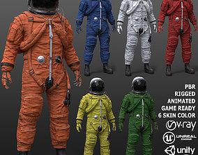 CS02 Male Space Suit 3D model