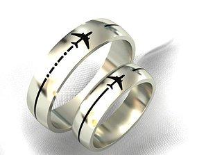 wedding rings for travel lovers 3D printable model