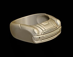 3D printable model rings car ring 2