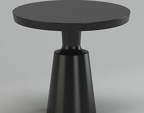 Black Modern Circle Coffee Table 3D model