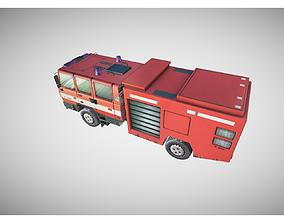 3D asset fire truck