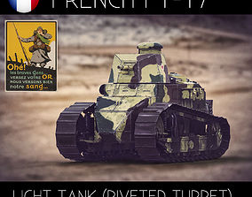 3D model Renault FT17 French Light Tank