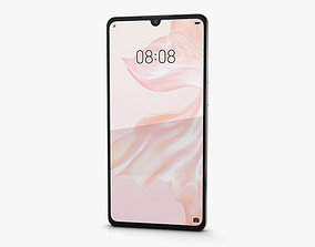 Huawei P30 Pearl White 3D model