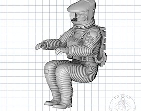3D printable model Seated Astronaut