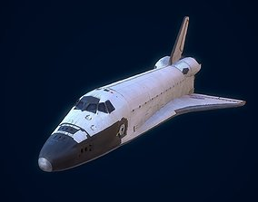3D asset game-ready Space Shuttle