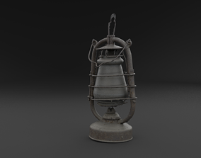 3D Scanned Old Kerosene Lamp RAW SCAN