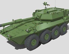 8x8 Wheeled Tank 3D model