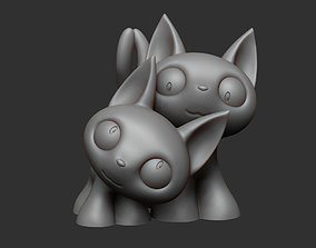 Anime Style Little Cat Couple 3D Print