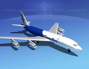 Boeing 707 Cargo One 3D model