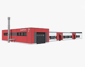 3D Steamshop Building