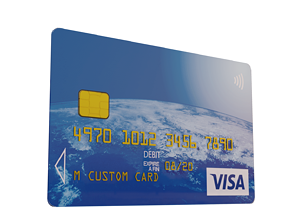 Customisable Debit Card 3D model