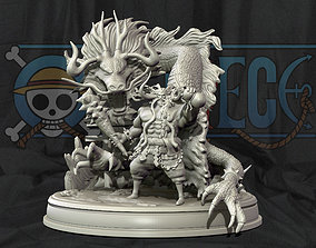 kaido king of the beasts dragon - one piece 3d print 1