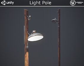 Light Pole 3D model realtime