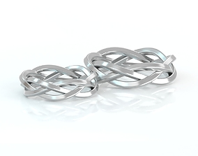 3D printable model silver Wedding band Braided Ring