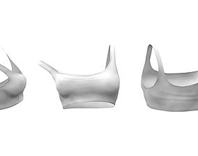 3D model Off Shoulder Crop Top