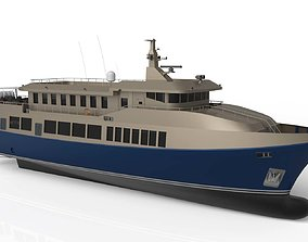 Complated Pleasure Boat 3D