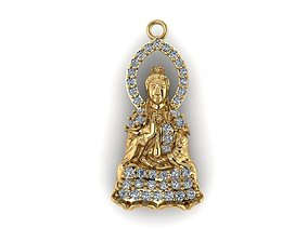 3D printable model BUDDHA DIAMOND pendants