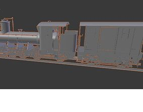 Model train steam locomotive for printing