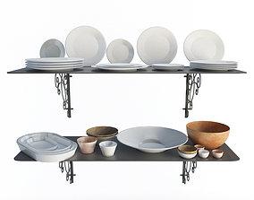 Tableware Set Iron 3D