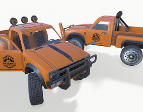 3D asset PickUp Orange