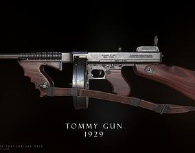 3D model realtime Tommy gun