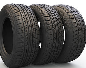 Tire pack and rim 3D model