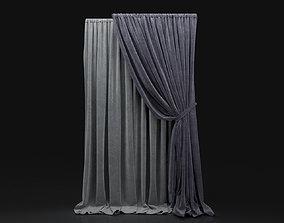 Curtain Blue-10 3D
