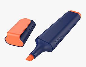 fluorescent 3D model Highlighter Pen