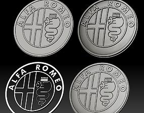 3D print model Alfa Romeo logo car logotype