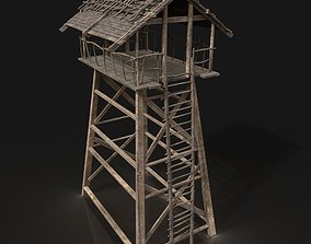 Medieval Wooden Viking Watchtower Scout Tower 3D model 1