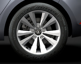 VW Golf TSI Bluemotion 2019 wheel 3D