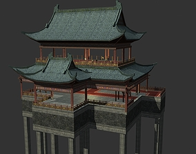 3D model Ancient Chinese Architecture with Internal 1