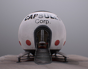 3D asset Capsule Corporation Spaceship