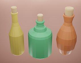 3D model Low poly potion bottle 4
