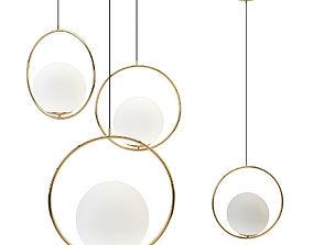 Suspension Pendant light Brass PL372 3D