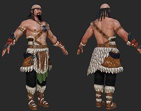 3D asset Mongolian strong man wrestler Ancient Chinese