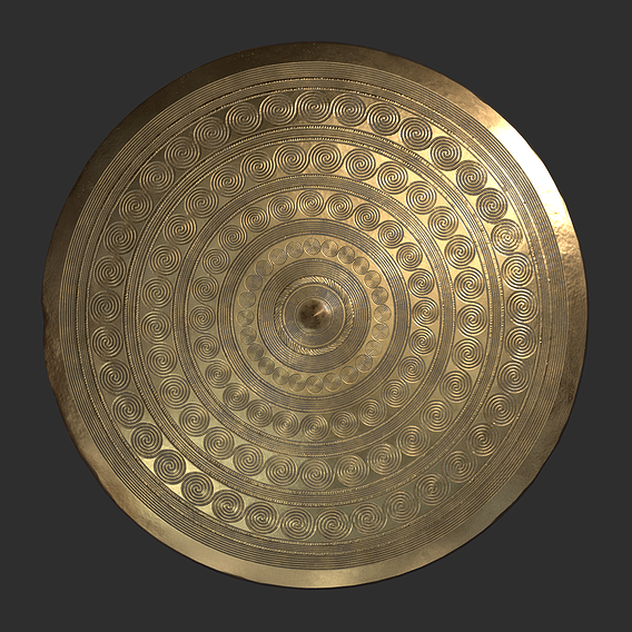 Authentic Bronze Age Belt Plate