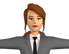 Female 3d clipart character
