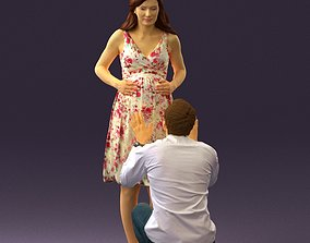 Man and pregnant woman 0771 3D model