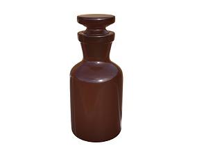 Chemical glass bottle 3D model