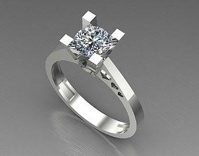 shining 3D Diamond Engagement Ring