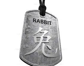 3D printable model Rabbit Chinese Zodiac Pendant design