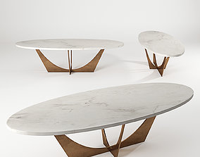 John Richard Marble Cocktail Table 3D model