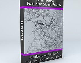 3D model Kazan Road Network and Streets navigation